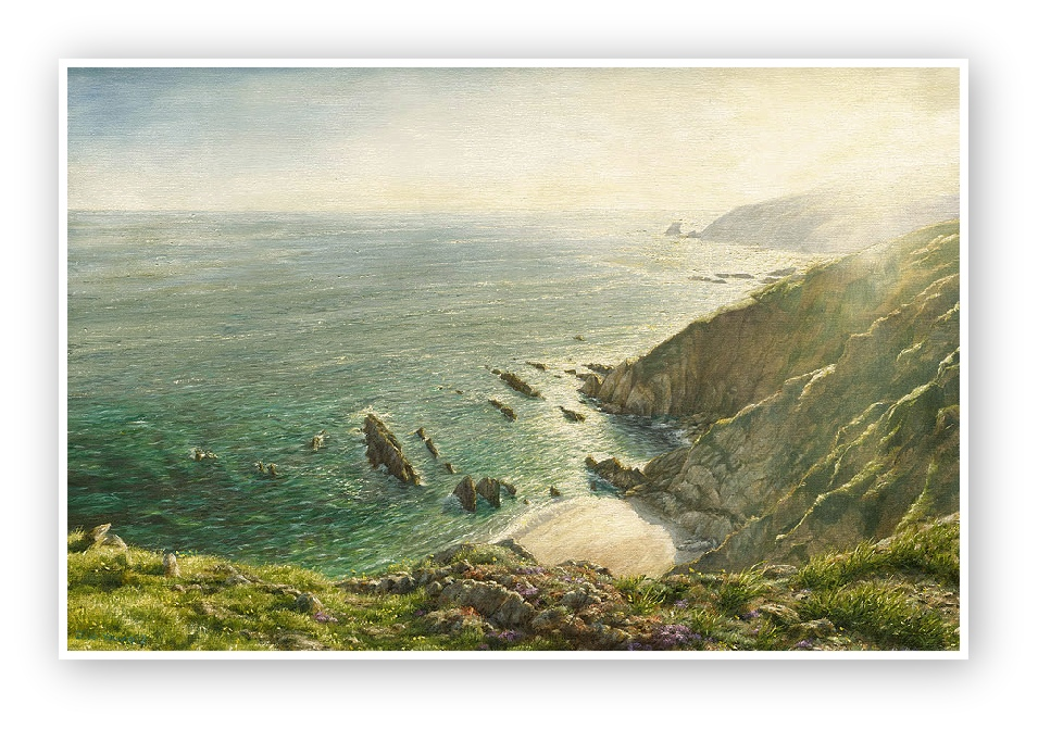 The Cove, Portwrinkle, South Cornwall print enlargement