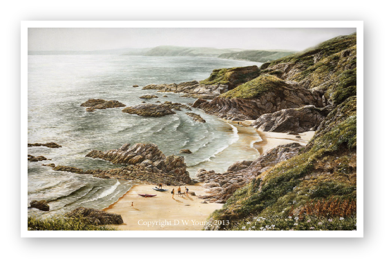 Tregegantle, Whistand Bay painting. See Print