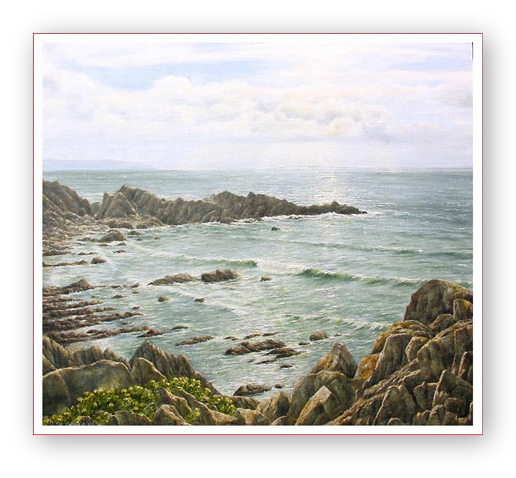 see enlargement Seascape Hartland Quay