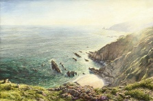 printsc the cove portwrinkle cornish coast  david young paintings