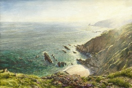 Wembury painting. Mew Stone, South Hams, Devon print enlargement