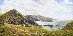 prints hartland peninsula north devon coast david young paintings