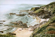 prints whitsand bay tregantle cornish coast david young paintings